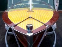 1956 16ft Century Resorter mahogany runabout with a v-8