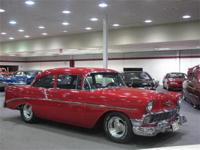 This 1956 Chevrolet 2 Door Post Car has had a complete