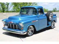 This custom pickup is powered by a Chevrolet 327ci V-8