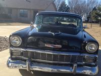 This is a 1956 Chevrolet 210 with a ZZ4 crate motor,