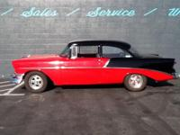 1956 Chevrolet Bel Air with new red and black paint