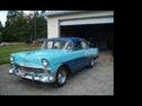 56 Chevy Bel Air Custom Gasser Atmospheric Blue and