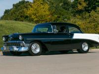 This 1956 Chevrolet 210 for sale has a 350 C.I. V8 w