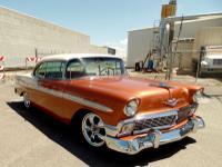 The 1956 Chevy has gone through a Frame Off restoration