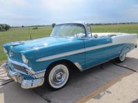 1956 CHEVROLET BEL AIR CONVERTIBLE; 2 DOOR  Small Block