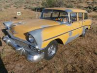Here`s a 1956 Chevy 210 Station Wagon 4-Door, has 1965