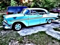 1956 Chevy Bel Air 4dr ht has later 305/350 with HEI,