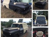 1956 Chevy Pane Truck. Runs good, could use a tune up