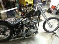 THIS IS A CUSTOM BUILT CHOPPER WITH A 1956 HARLEY