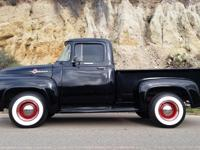 This is a beautiful 1956 Ford F100 short bed Pickup