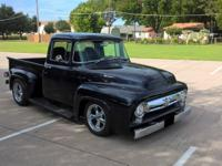1956 Ford F-100 Street Rod Cosmic Blue. This truck has