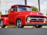 1956 FORD F100 RESTOMOD FINISHED IN SUNGLO RED OVER