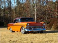 1956 Ford Fairlane Club Coupe, w/ 3 speed in the floor