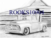 "You are viewing one 8"" X 10"" Black and White Truck Art"