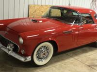 1956 Thunderbird red in color with red & white