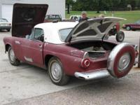 1956 Black Thunderbird-needs restoration- for sale.