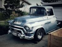 1956 gmc long bed truck. Fresh clean interior, new