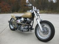 1956 HD PANHEAD BOBBEROriginal 74 cu Panhead motor with