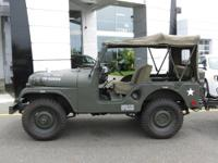 Korean wartime military jeep and trailer, meticulous