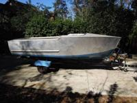 Very rare aluminum boat with initial trailer. New