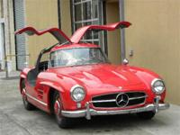 1956 Mercedes Benz 300SL Gullwing. Red with black