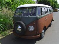 1956 vw bus, 1600 dp electric motor, runs and drives