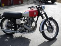 This 1957 Ariel motorbike is an unusual device. The