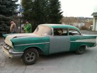 1957 Chevrolet 2 door post ( rare) 45 years of barn