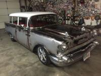 Very nice 1957 Chevy 2 Door Wagon with a 350 V-8 engine