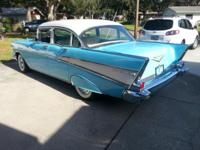 1957 Chevrolet 4 DR. SDN. (initial colors). Tropical
