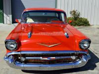 1957 Bel Air 2 Door Sport Coupe. Painted a gorgeous