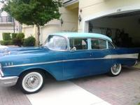 1957 Chevrolet Bel Air V8 283 4barrel 4-door sedan