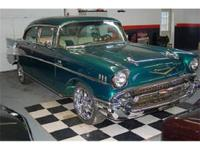 1957 Chevy Bel Air 2Dr. Hardtop. Nice chrome! Amazing