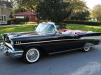 1957 CHEVY FUEL-INJECTED CONVERTIBLE; MATCHING 283ci