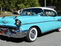 1957 Chevy Bel Air two hardtop that has been completely