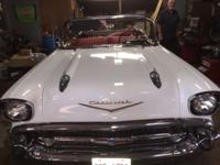1957 Chevrolet Bel Air Convertible ..White Paint ..Red