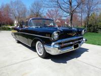 1957 Chevy Air150/210 convertible blackA beautifully