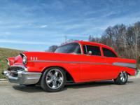 This 1957 Chevrolet 210 Resto-Mod has a 5.7 Liter Fuel