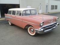 57 CHEVY BEL AIR STATION WAGON. ORIGINAL COLOR CANYON