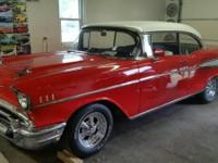 This is an excellent classic 1957 Chevrolet Belair, has