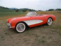 1957 Corvette Convertible. Correct casting 283ci engine