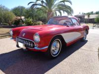 You are looking at a 1957 Corvette that has not been