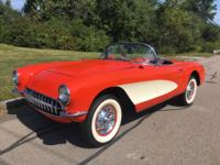 1957 CHEVROLET CORVETTE 2 TOP ROADSTER IN GORGEOUS