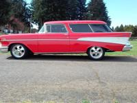 1957 CHEVY NOMAD.  -355 HP ZZ4, ALUM.  -HEADS, HOLLEY