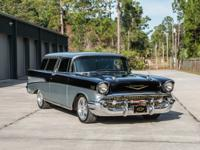 1957 Chevrolet Nomad ZZ350 V8 Black and Silver. The