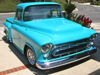1957 Chevy Pick-up with rare Big Window. Purchased