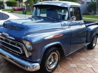 Nice 1957 chevy truck 3100.  -350 engine, V8 w 700r