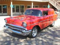 THIS BEAUTIFUL EXAMPLE OF A 1957 SEDAN DELIVERY WAS