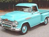 Year: 1957 Make: Chevy Model: 3100 Mileage: 7,549