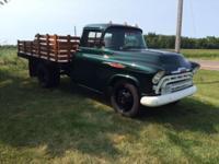 1957 Chevy 3800 1 1/2 Ton (SD) - $29,900 Dump box. Red